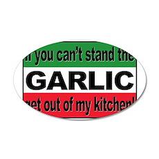 Garlic 38.5 x 24.5 Oval Wall Peel