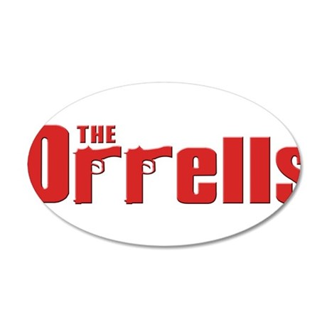The Orrell family 22x14 Oval Wall Peel