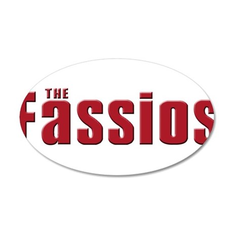 The fassio Family 38.5 x 24.5 Oval Wall Peel