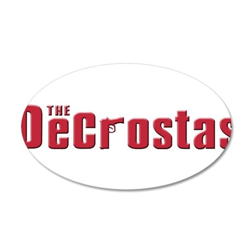 The DeCrosta family 22x14 Oval Wall Peel