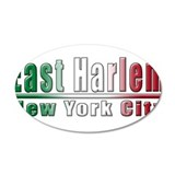 Italian East Harlem 38.5 x 24.5 Oval Wall Peel