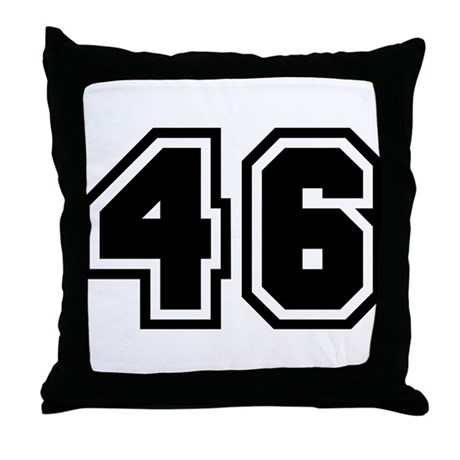Gt athlete more fun stuff gt varsity uniform number 46 throw pillow