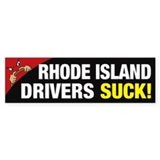 Rhode Island Drivers Suck Bumper Sticker