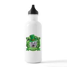 Happy St. Patrick's Day Westie Water Bottle