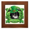 Happy St. Patrick's Day Pekingnese Framed Tile