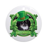 Happy St. Patrick's Day Pekingnese Ornament (Round
