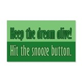 Snooze Button Wall Decal