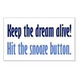 Snooze Button Decal