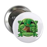 "Happy St. Patrick's Day Doberman 2.25"" Button"