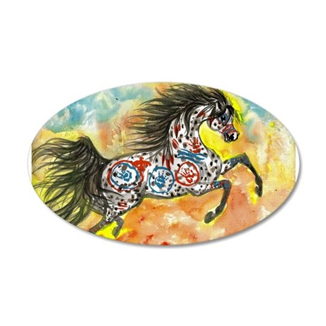 Wind Walker Appaloosa 22x14 Oval Wall Peel