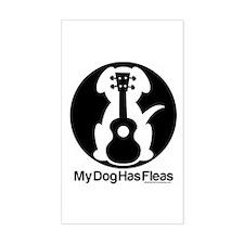 My Dog Has Fleas Ukulele Mugs Decal