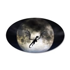 Dragon Moon 38.5 x 24.5 Oval Wall Peel