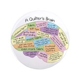 Quilter's Brain 3.5&amp;quot; Button (100 pack)