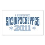 I Survived Snowpocalypse 2011 Sticker (Rectangle 50 pk)