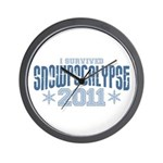 I Survived Snowpocalypse 2011 Wall Clock