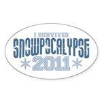 I Survived Snowpocalypse 2011 Sticker (Oval 10 pk)