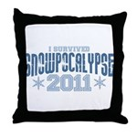 I Survived Snowpocalypse 2011 Throw Pillow