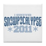 I Survived Snowpocalypse 2011 Tile Coaster