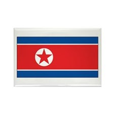 North Korea Flag Rectangle Magnet (100 pack)