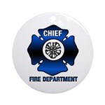 Fire Chief Ornament (Round)