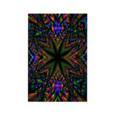 Groovy Fractal Rectangle Magnet