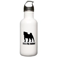 I'm a pug mommy Water Bottle