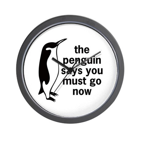 The Penguin Says Wall Clock