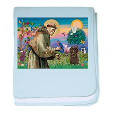 St. Francis & Affenpinscher baby blanket