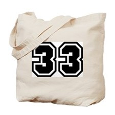 Varsity Uniform Number 33 Tote Bag