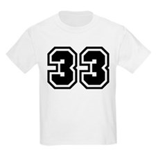 Varsity Uniform Number 33 Kids T-Shirt