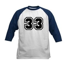 Varsity Uniform Number 33 Tee