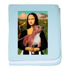Mona Lisa (new) & Amstaff baby blanket