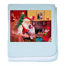 Santa's Aussie (#1) baby blanket