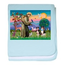 St Francis & Two Aussies baby blanket