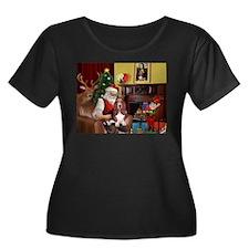 Santa's Basset Hound T