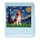 Starry Night & Beagle Pup baby blanket