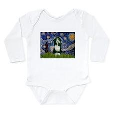 Starry Night & Beardie Long Sleeve Infant Bodysuit