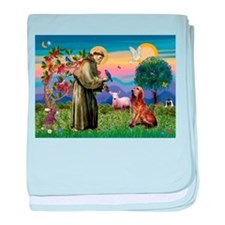 St Francis & Bloodhound baby blanket