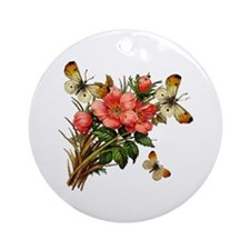 Provencal Butterfly Windchimes Ornament (Round)