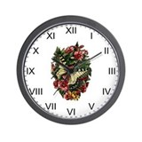 Provencal Butterfly Floral I Wall Clock