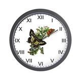 Provencal Butterfly Summer Wall Clock