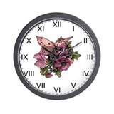 Provencal Butterfly Fairy Wall Clock