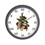 Provencal Butterfly Fields Wall Clock