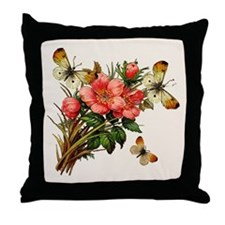 Natural Butterfly Windchimes Throw Pillow