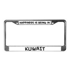 Happiness is Kuwait License Plate Frame