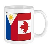 PI Flag & Canada Flag Small Mugs