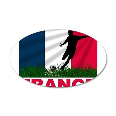 France 38.5 x 24.5 Oval Wall Peel