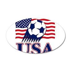 USA Soccer 38.5 x 24.5 Oval Wall Peel