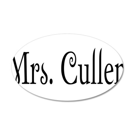 Mrs. Cullen 38.5 x 24.5 Oval Wall Peel