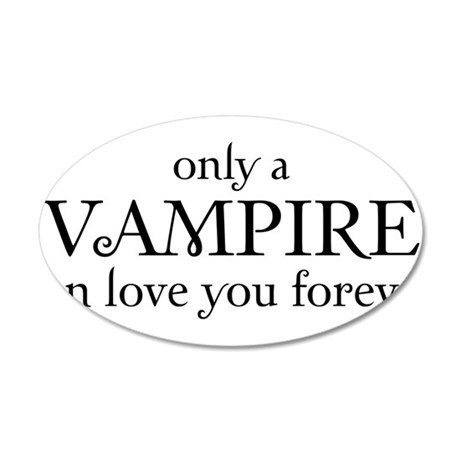 Vampire love 38.5 x 24.5 Oval Wall Peel